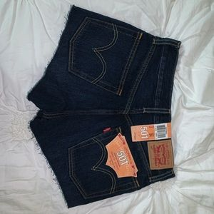 NWT Levi's 501 denim shorts SIZE 24